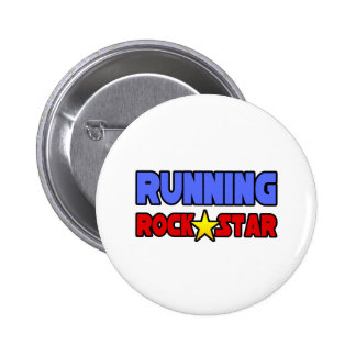 Running Rock Star Pinback Button
