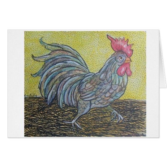 running rooster card