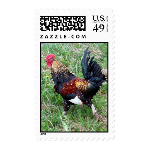 Running Rooster Stamp