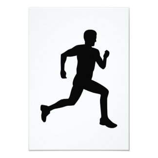 """Running runner 3.5"""" x 5"""" invitation card"""
