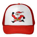 Running Santa Claus Mesh Hat