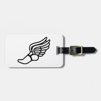Running Shoe With Wings Tag For Bags