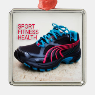 Running shoes metal ornament