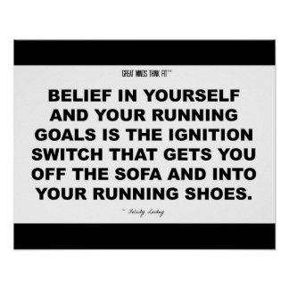 Running Shoes Quote in Black and White Print
