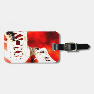 Running Shoes Runner Athlete Grunge Style Bag Tag