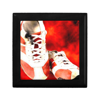 Running Shoes Runner Athlete Grunge Style Keepsake Box