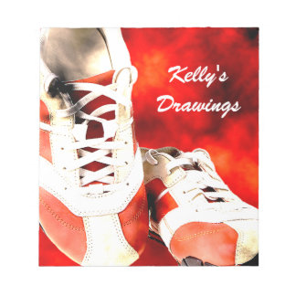 Running Shoes Runner Athlete Grunge Style Notepad