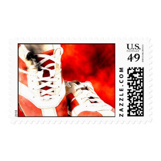 Running Shoes Runner Athlete Grunge Style Postage
