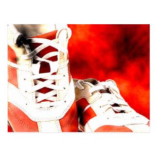 Running Shoes Runner Athlete Grunge Style Postcard