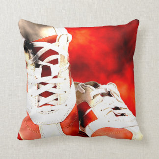 Running Shoes Runner Athlete Grunge Style Throw Pillow