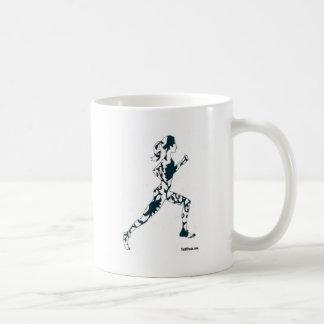 Running Silhouette - Floral Coffee Mug