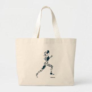Running Silhouette - Floral Jumbo Tote Bag