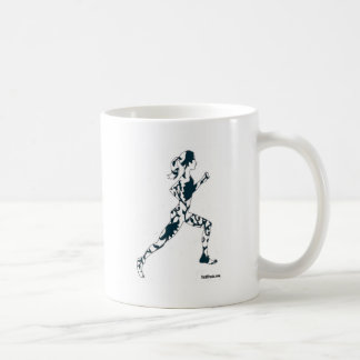 Running Silhouette - Floral Classic White Coffee Mug