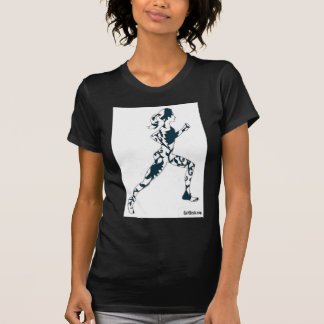 Running Silhouette - Floral T-Shirt