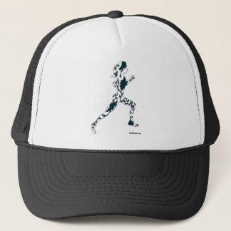 Running Silhouette - Floral Trucker Hat