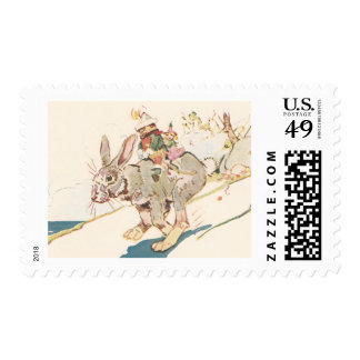 Running Snowshoe Hare Stamp