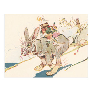 Running Snowshoe Hare Postcard