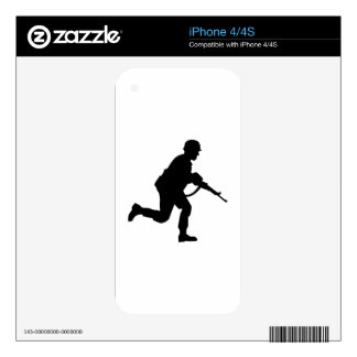 Running Soldier Decals For The iPhone 4S