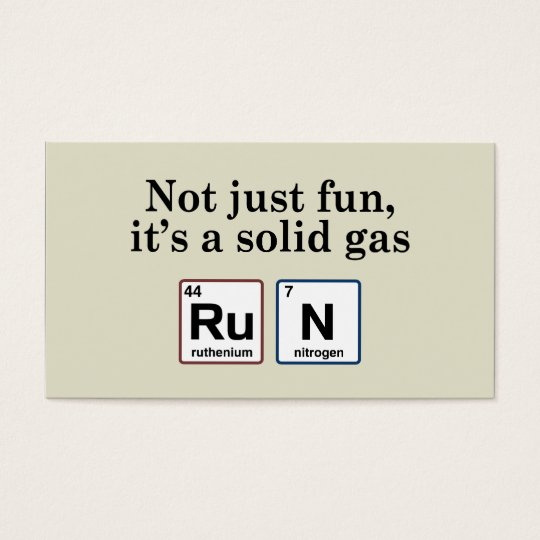 Running Solid Gas Elements Business Card