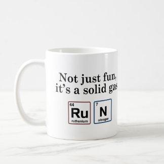 Running Solid Gas Elements Coffee Mug