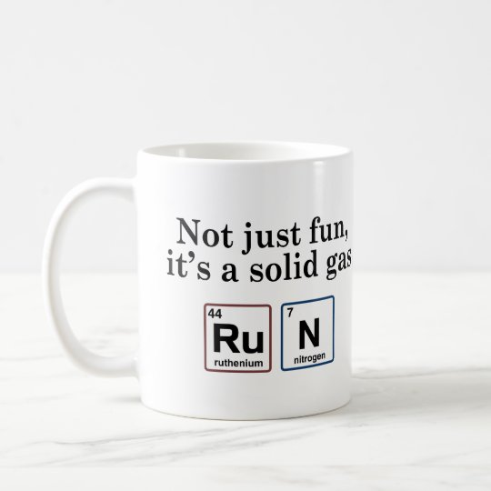 Running Solid Gas Elements Coffee Mug