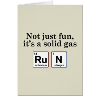 Running Solid Gas Elements Greeting Card
