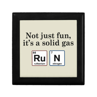 Running Solid Gas Elements Keepsake Box