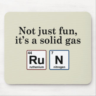 Running Solid Gas Elements Mouse Pad