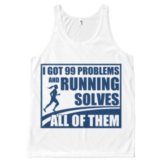 Running Solves All of Them All-Over-Print Tank Top