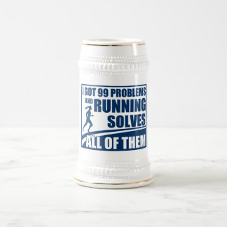 Running Solves All of Them Beer Stein