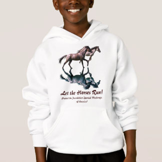 Running Spanish Mustangs Horse-Lover Apparel Hoodie