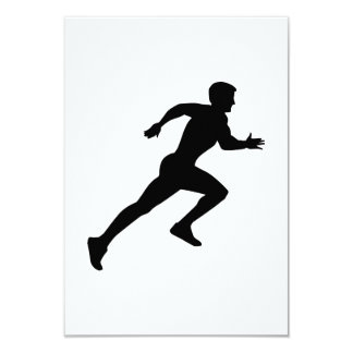 Running sprint 3.5x5 paper invitation card