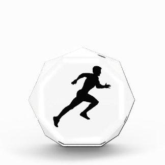 Running sprint acrylic award