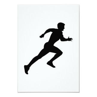 "Running sprint 3.5"" x 5"" invitation card"