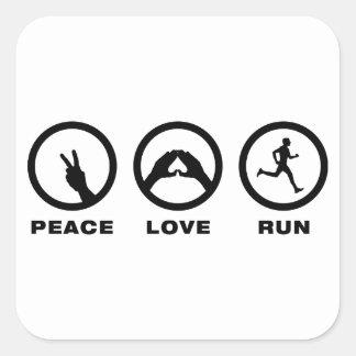 Running Square Sticker