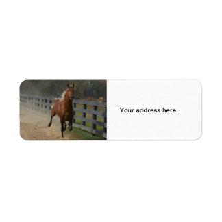 Running Stallion Label
