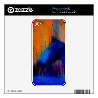 Running Stallion & Trees Fantasy Horse Modern Art iPhone 4 Decal