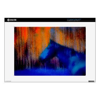 """Running Stallion & Trees Fantasy Horse Modern Art 15"""" Laptop Skin"""