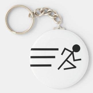 Running Stickman Keychain