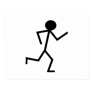 Running Stickman Postcard