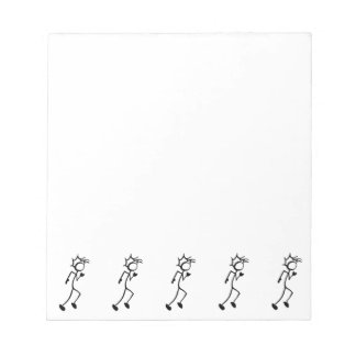 Running Stickman Track and Field Note Pad