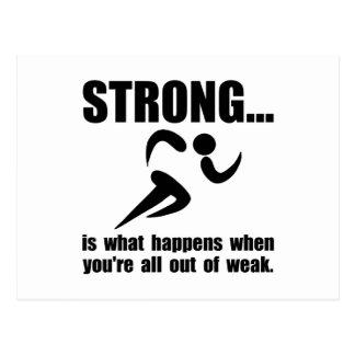 Running Strong Postcard