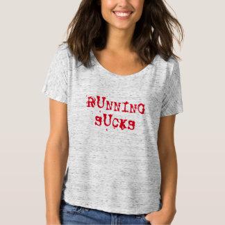 running sucks funny runners workout top design t-shirt