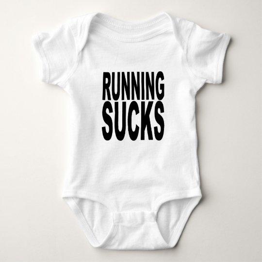 Running Sucks.png Baby Bodysuit