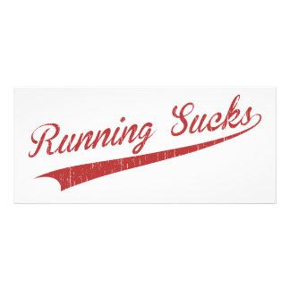 Running Sucks Customized Rack Card