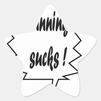 Running Sucks Star Sticker
