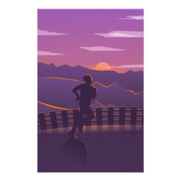 Running sunrise stationery