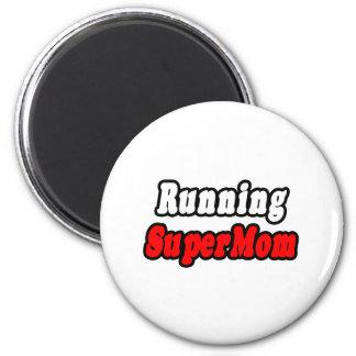 Running SuperMom 2 Inch Round Magnet