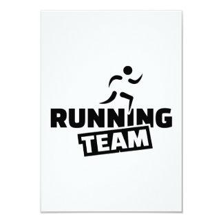 """Running team 3.5"""" x 5"""" invitation card"""