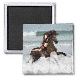 Running the Beach Fridge Magnets